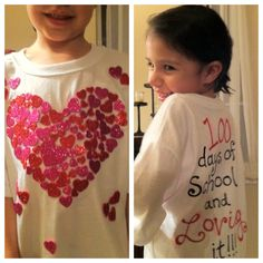 100 days of school - hearts, and loving it!
