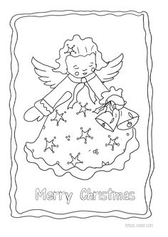coloring pages angels christmas candle light from our christmas ... - Coloring Pages Angels Kids