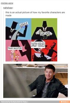 Only pinning this because the picture of dean is too cute not too!