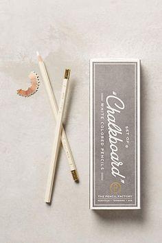 White Colored Pencils / anthropologie.com