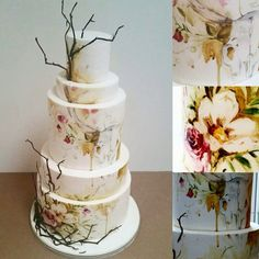 Nevie pie, painted cake