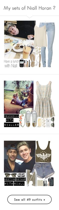 """My sets of Niall Horan ☺"" by directioneruruguaya ❤ liked on Polyvore featuring Kiomi, Topshop, Talullah Tu, NYX, Clarins, Converse, Accessorize, Ray-Ban, Schott Zwiesel and ASOS"