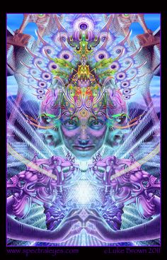 apotheosis_detail by Luke Brown, Psychedelic art