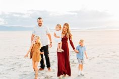 Beach Lifestyle Family Session | Saltair Utah | BreAnne Weston Photography | What to Wear