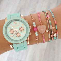 Mint15 - Watch 'Light Mint' and bracelets www.mint15.nl