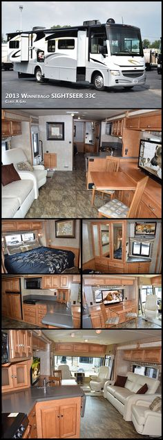 2013 WINNEBAGO SIGHTSEER 33C Class A Gas makes it easy to say yes to the Class A lifestyle. Winnebago Industries' legendary quality standards, offer value and features you would not expect at such a friendly price.