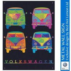 VW CAMPER NEON QUAD WALL SIGN