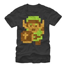 Nintendo Legend of Zelda Pixel Link Mens 2XL Graphic T Shirt - Fifth Sun @ niftywarehouse.com #NiftyWarehouse #Geek #Zelda #Products #LegendOfZelda #Nintendo