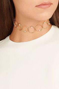 Anissa Kermiche - 14-karat Gold Pearl Choker - one size