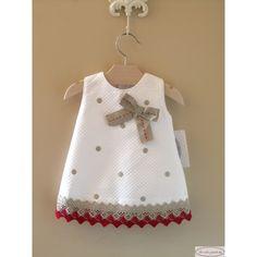 Vestido bebé Nube - De Color Guinda