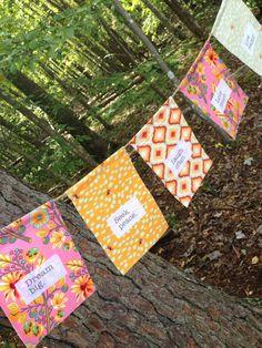 Yoga Prayer Flags  Affirmations Gratitude by SilkandStoneStudio