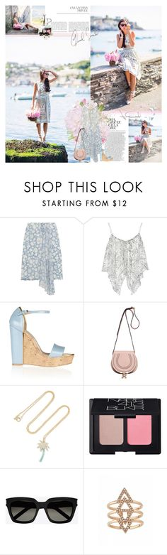 """""""xx water lily xx"""" by pandacubcake ❤ liked on Polyvore featuring Topshop Unique, Elizabeth and James, STELLA McCARTNEY, Chloé, Jennifer Meyer Jewelry, NARS Cosmetics, Yves Saint Laurent, By Terry, Summer and sandals"""