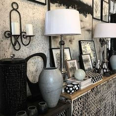 45 degrees #26kloofnekroad #253floridaroad #interiors #decor #decorative #objet #cecileandboyd #blackandwhite #styling Console Table, Table, Interior Design, Wall Lights, Small Tables, Interior, Outside Furniture, Home Decor, Furniture