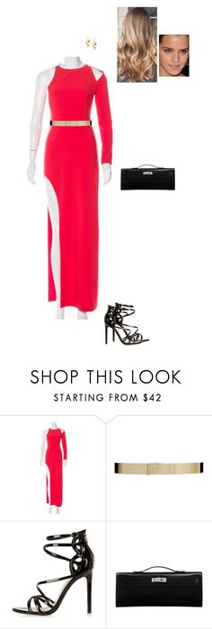 """Sem título #7498"" by gracebeckett ❤ liked on Polyvore featuring Halston Heritage, ASOS, River Island, Hermès and Red Herring"