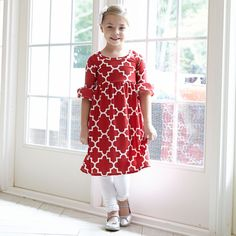 Girls Red Lattice Knit Liv Dress – Lolly Wolly Doodle