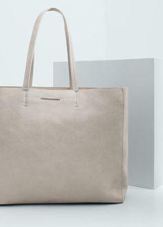 Shopper-Tasche aus Kunstleder