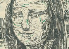 Money is the Medium in Dollar Bill Collages | The Creators Project