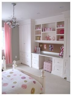 Great storage for girl's room