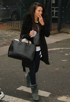 Tan-tastic: Michelle Keegan looked bronzed after her recent trip away