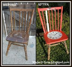 Alice In Wonderland chair:  Before and After