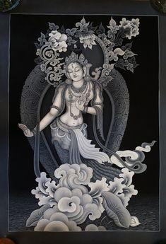 Black children mothers 64 new Ideas Thangka Painting, Buddha Painting, Buddha Art, Sculpture Painting, Hand Painting Art, Silk Painting, Art Deco Wedding Theme, Om Mantra, Tibetan Art