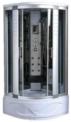 the sp02 is a 1050mm x 1050mm steam shower corner cabin