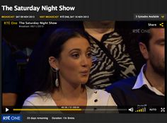 Few words on the Saturday Night Show on RTE wearing SS14