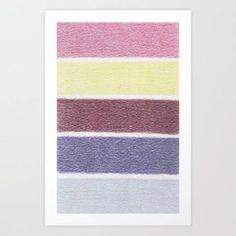 Grapes In A Gray Bowl - Color Palette No 2 Art Print