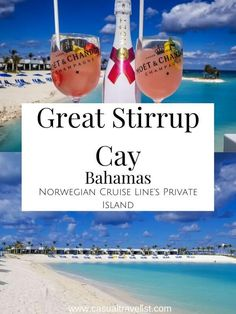 Stopping at Great Stirrup Cay on your Caribbean cruise with Norwegian Cruise Lines? Discover the best things to do, see and eat on NCL's private island in the Bahamas. Best Cruise, Cruise Tips, Cruise Travel, Cruise Vacation, Shopping Travel, Vacation Travel, Beach Travel, Disney Cruise, Bahamas Cruise