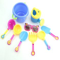 9Pcs/Set Seaside Sand Play Water Tools with Sunglasses //Price: $11.64 & FREE Shipping //     #coupon