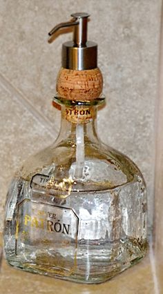 I love the idea of putting the dispenser through a cork - so easy!! by angelina
