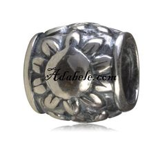 This beautiful eternity sun .925 Sterling Silver European charm fits Pandora, Biagi Trollbeads, Chamilia, and most charm bracelets find out more at adabele.com