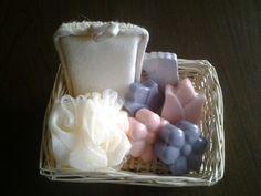 Canastas decorativas con jabón de gliserina