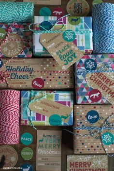 Free Printable: rustic holiday labels and gift tags