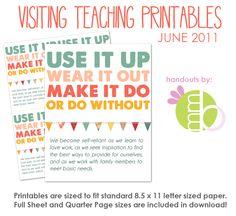 VT printable #lds #visitingteaching