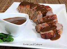 For the Love of Cooking » Pork Tenderloin with Roasted Garlic Vinaigrette
