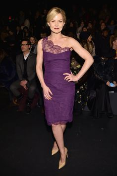 Jennifer Morrison attends the Monique Lhuillier Fall 2016 fashion show during New York Fashion Week: The Shows at The Arc, Skylight at Moynihan Station on February 13, 2016 in New York City.