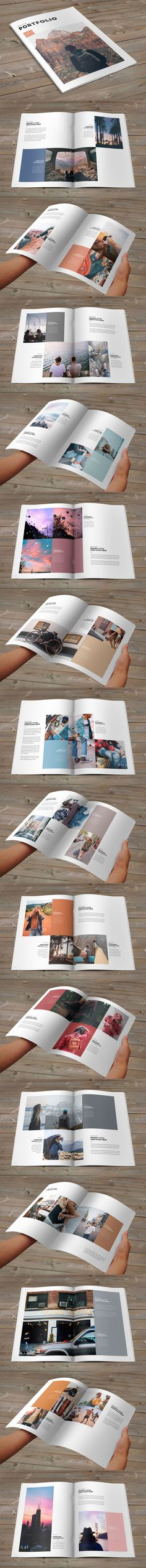 Minimal Fashion Photography Portfolio Brochure Template InDesign INDD