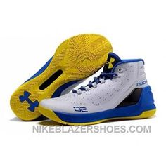 91fb55600d6 Under Armour Stephen Curry 3 Shoes White Blue Yellow Online