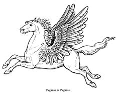 Pegasus is a flying horse from Greek and Roman mythology. He is generally pictured as white, sometimes with golden wings. Pegasus appears again and again ...