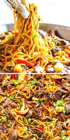 Beef Ramen Noodle Recipe is a quick stir fry using ramen noodles, beef, and vegetables, with a savory stir fry sauce.  Make this Beef Noodle Stir Fry for a quick and easy dinner tonight! Stir Fry Using Ramen Noodles, Beef And Noodles, Asian Recipes, Beef Recipes, Cooking Recipes, Pasta Dishes, Food Dishes, Food Food, Beef Ramen Noodle Recipes