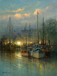 painting - by Gerald Harvey Jones Paintings I Love, Seascape Paintings, Landscape Paintings, G Harvey, Boat Painting, Southwest Art, Ocean Art, Western Art, Watercolor Art