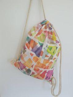 Drawstring Backpack, Backpacks, Bags, Geometry, Handbags, Backpack, Backpacker, Bag, Backpacking