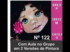 Aula pintura do Rostinho Boneca de Pano 122G Estencil Lollipop - YouTube Flower Pot Crafts, Flower Pots, Doll Face, Doll Patterns, Doll Clothes, Barbie, Make It Yourself, Videos, Painting