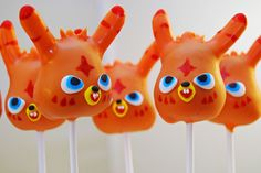 Moshi Monster Cake Pops - I know a beautiful little boy who might want to see these on his birthday!