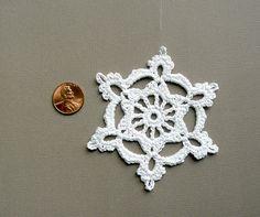6 Crochet Snowflake Ornaments Large Snowflake by CaitlinSainio