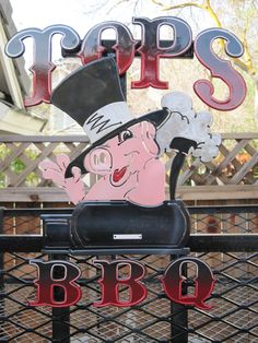 Addition of the TOPS BBQ sign