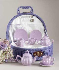 purple tea set, I must have this