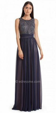 Beaded Bodice Pleated Chiffon Evening Dresses by JS Collection on shopstyle.com