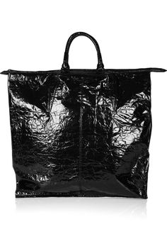 Prisma laminated textured-leather tote by Alexander Wang